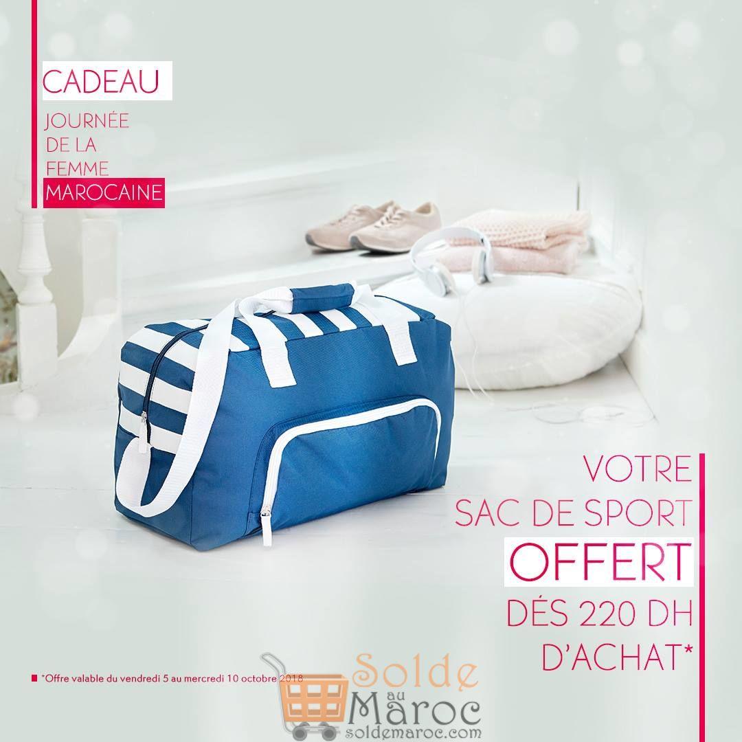Offre Exclusive Yves Rocher Maroc Sac de sport OFFERT dès 220dh d'achat