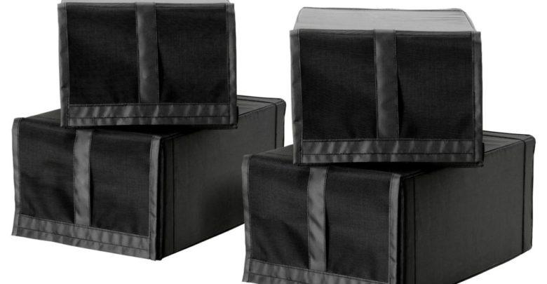 Soldes Ikea Maroc Boîte à chaussures SKUBB noir 4 pièces 119Dhs au lieu de 169Dhs