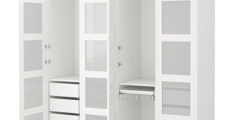 Soldes Ikea Maroc Penderie PAX blanc Verre dépoli Bergsbo 6136Dhs au lieu de 7670Dhs