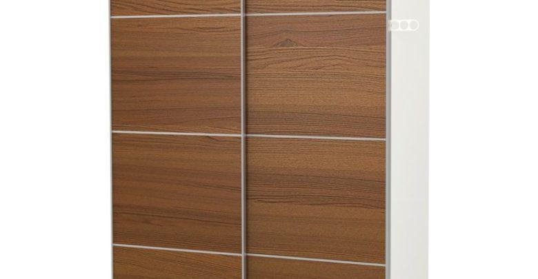 Soldes Ikea Maroc Penderie PAX blanc Ilseng plaqué frêne teinté brun 6616Dhs au lieu de 8270Dhs