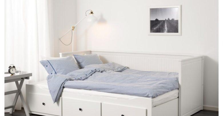 Soldes Ikea Maroc Lit d'appoint HEMNES 3 tiroirs/2 matelas blanc 4885Dhs au lieu de 5485Dhs