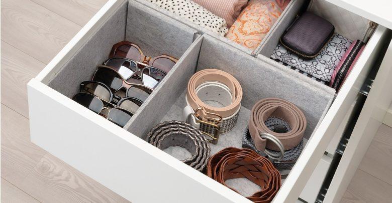 Soldes Ikea Maroc Boîte 4 pièces KOMPLEMENT gris clair 200Dhs au lieu de 250Dhs