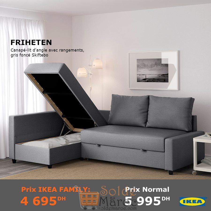 Soldes Ikea Family Maroc Canapé Lit D Angle Avec Rangement