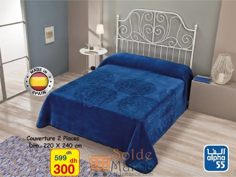Promo Alpha55 Couvertures 2 places made in Spain