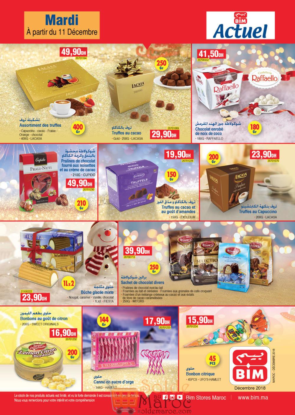 Catalogue Bim Maroc Spéciale Chocolat du Mardi 11 Décembre 2018