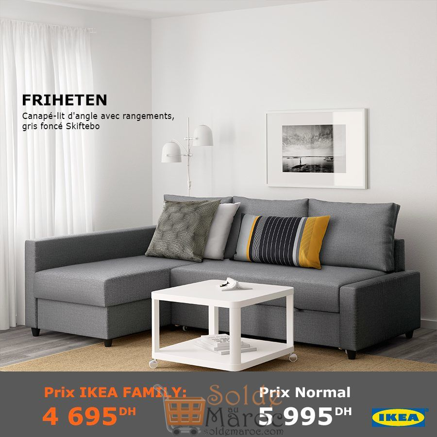 soldes ikea family maroc canap lit d angle avec rangement. Black Bedroom Furniture Sets. Home Design Ideas