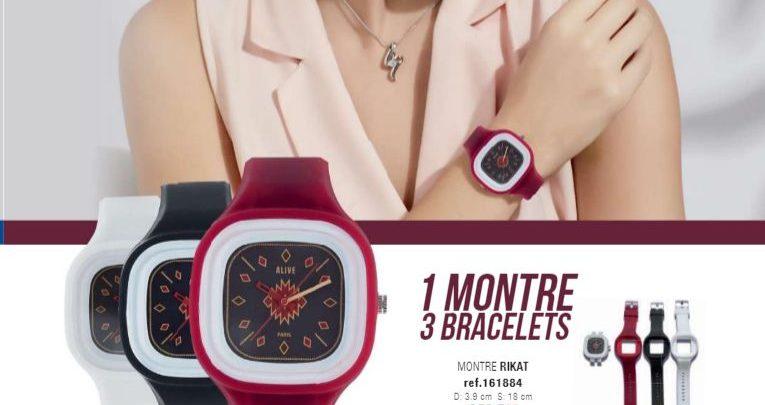 Promo Sophie Paris Maroc 1 montre 3 bracelets RIKAT 179Dhs au lieu de 259Dhs