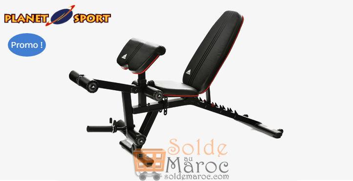 Promo Planet Sport ADIDAS Utility Bench & Leg 2995Dhs au lieu de 3495Dhs