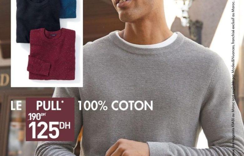Promo Kiabi Maroc Pull 100% Coton 125Dhs au lieu de 190Dhs