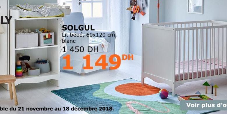 Soldes IkSoldes Ikea Family Maroc Lit Bébé SOLGUL 1149Dhs au lieu de 1450Dhs
