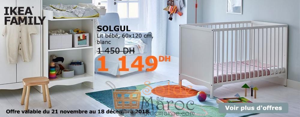 Soldes Ikea Family Maroc Lit Bébé SUNDVIK 1795Dhs au lieu de 2250Dhs