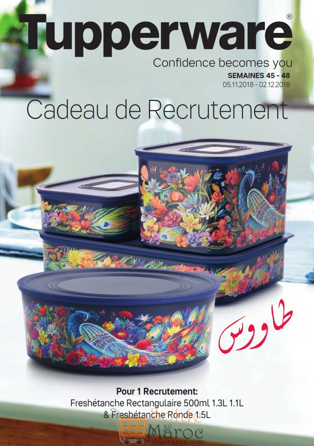 Catalogue Tupperware Maroc Cadeau de recrutement Jusqu'au 2 Décembre 2018