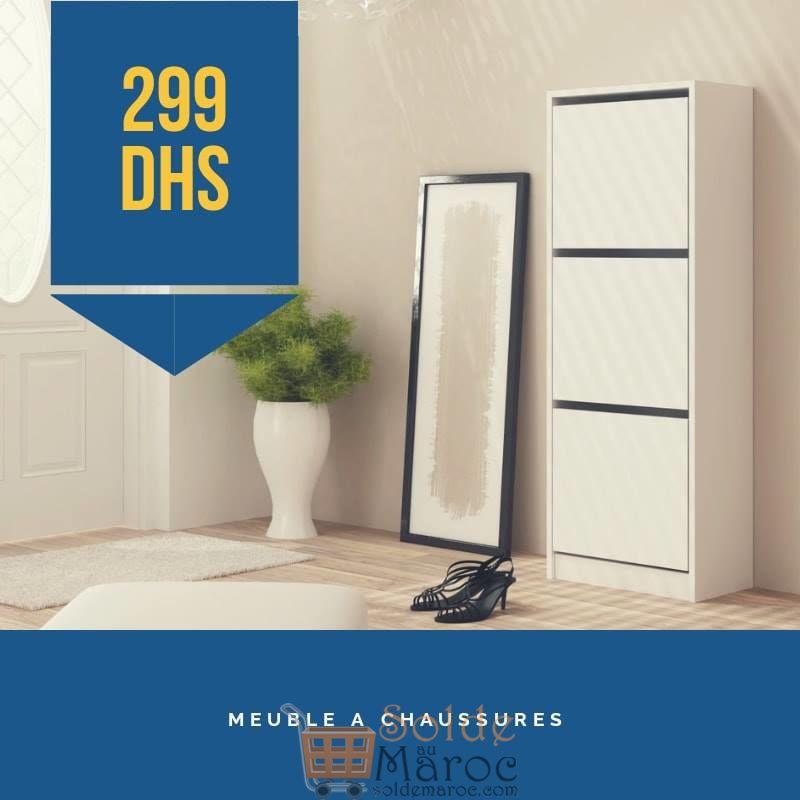 Promo Azura Home MEUBLE CHAUSSURES WISAN WHITE 299Dhs au lieu de 499Dhs