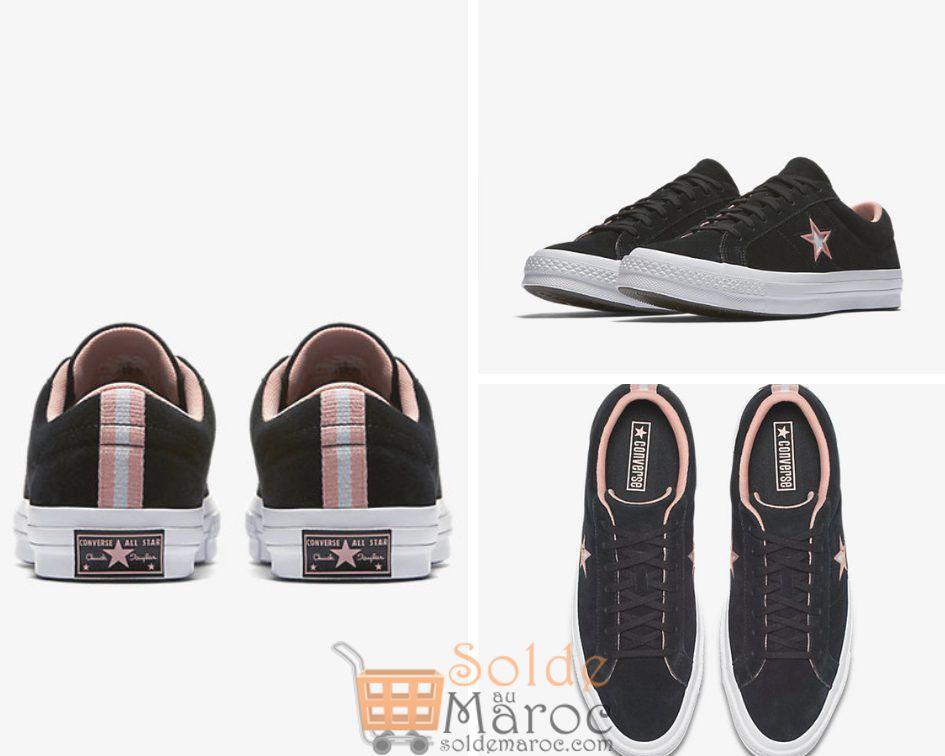 Promo BD Morocco Outlet Converse 25% de remise One Star black/white/pale coral