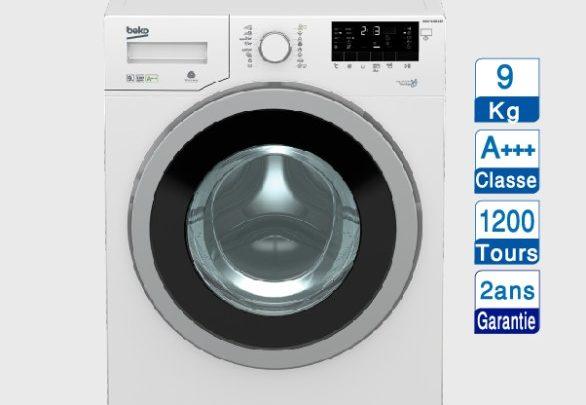 Soldes Aswak Assalam MACHINE À LAVER Beko 9kg 4199Dhs au lieu de 5499Dhs