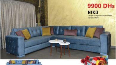 Offre Spéciale Amines Design Canapé d'angle NIKO + tableau 9900 Dhs au lieu de 11990Dhs