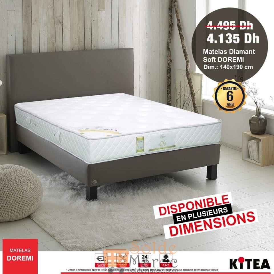 Soldes Kitea Matelas Diamant Soft DOREMI 4135Dhs au lieu de 4495Dhs