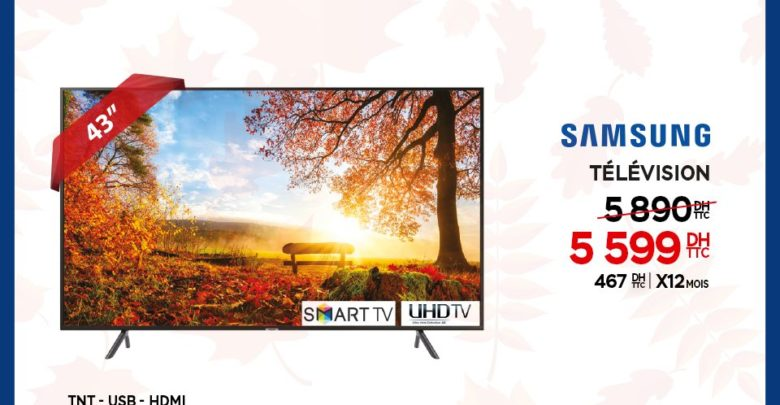 Photo of Méga Remise Electroplanet Smart TV 43° UHD Samsung 5599Dhs au lieu de 5890Dhs