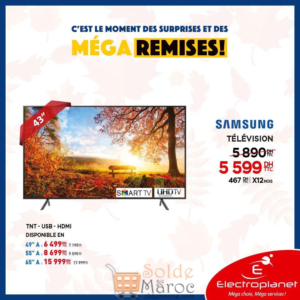 Méga Remise Electroplanet Smart TV 43° UHD Samsung 5599Dhs au lieu de 5890Dhs