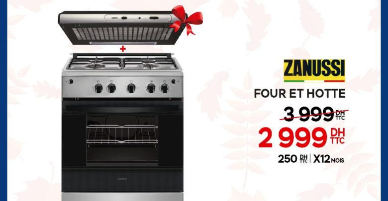 Photo of Promo Electroplanet Four + Hotte ZANUSSI 2999Dhs au lieu de 3999Dhs