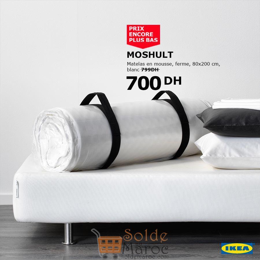 Soldes Ikea Maroc Matelas en mousse MOSHULT 700Dhs au lieu de 799Dhs