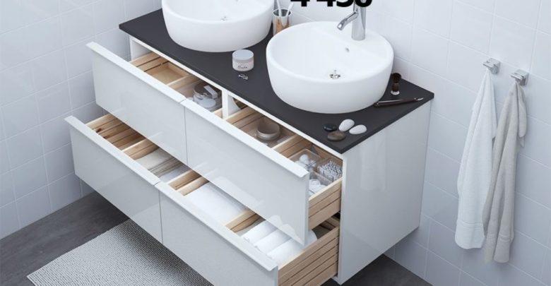 Promo Ikea Family Maroc Meuble Lavabo 4 Tiroirs GODMORGON 3560Dhs au lieu de 4450Dhs