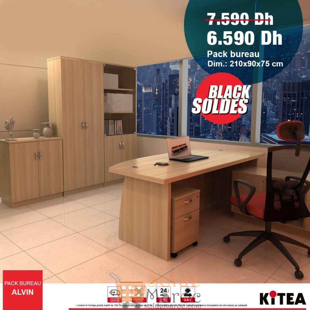 Black Soldes Kitea Pack de bureau ALVIN 6590Dhs au lieu de 7590Dhs