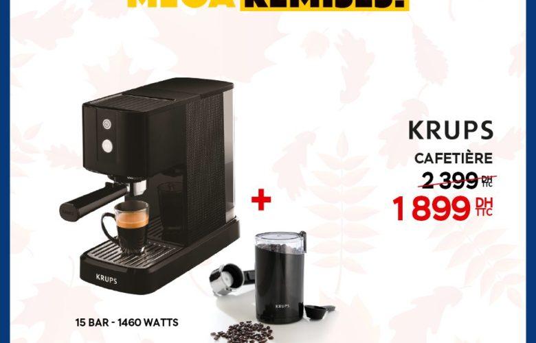 Méga Remise Electroplanet Cafetière Krups 1899Dhs au lieu de 2399Dhs