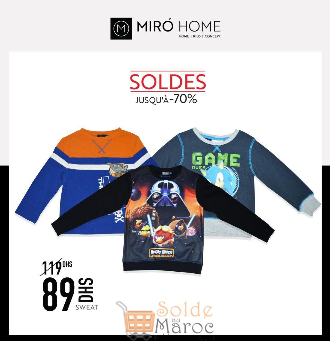 Soldes Miro Home Sweat Garçon 89Dhs au lieu de 119Dhs