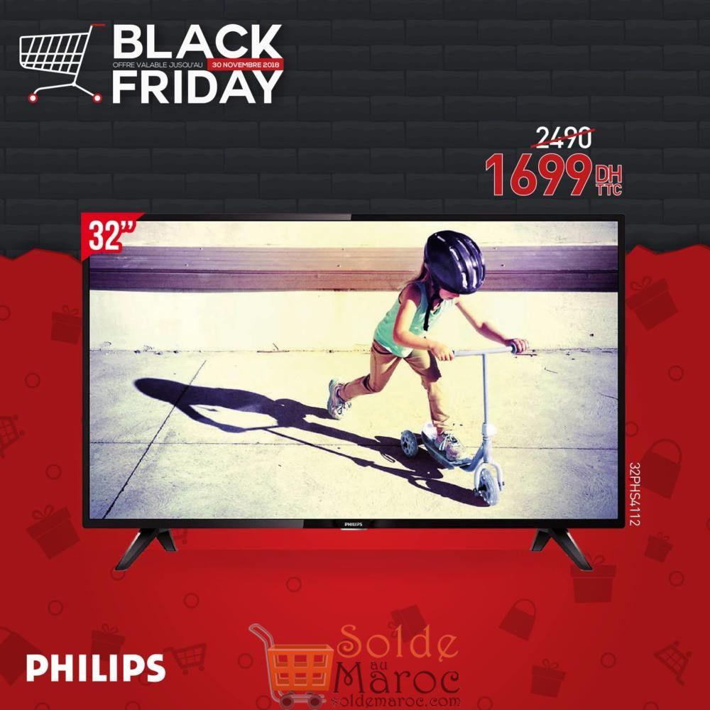 Black Friday Biougnach Electro Téléviseur LED 32 Pouces Philips 1699Dhs au lieu de 2490Dhs