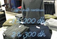 Offre Spéciale Premium Outlet 1 Pulls chauds en laine Hommes 1200Dhs et 2 Pulls 300Dhs