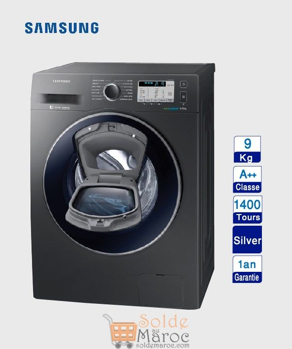 soldes aswak assalam machine laver samsung 9kg 5999dhs. Black Bedroom Furniture Sets. Home Design Ideas