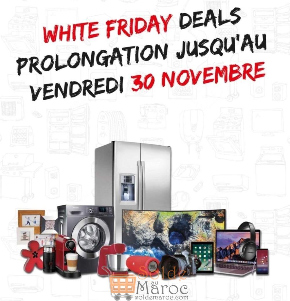 Prolongement White Friday Deals Tangerois jusqu'au Vendredi 30 Novembre 2018