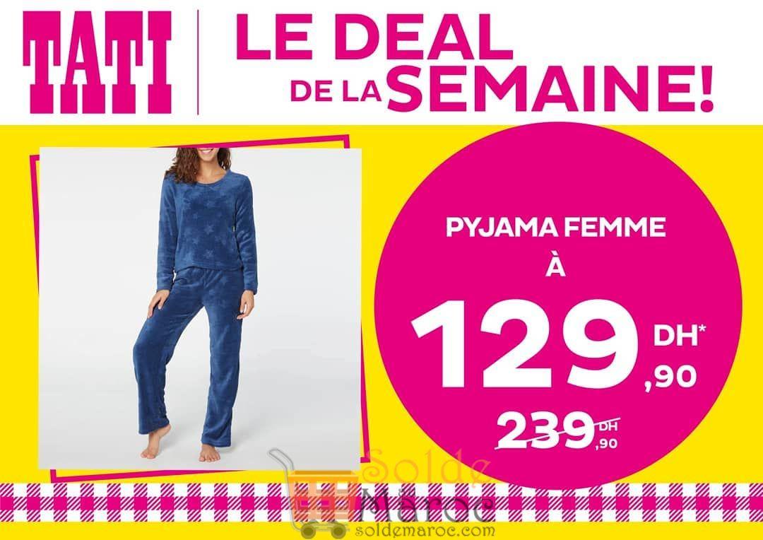 Deal de la semaine Tati Maroc Pyjama Femme 129Dhs au lieu de 239Dhs