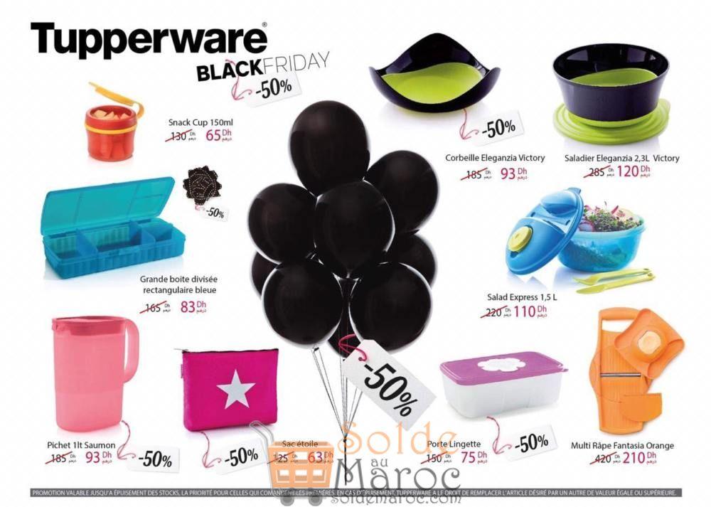 Black Friday Tupperware Maroc Jusqu'à -50% de remise