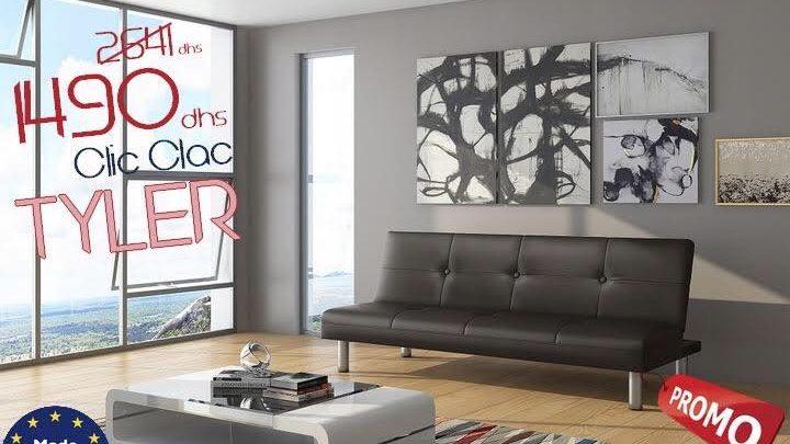 Photo of Soldes Azura Home Banquette Clic Clac Tyler 1490Dhs au lieu de 2641Dhs