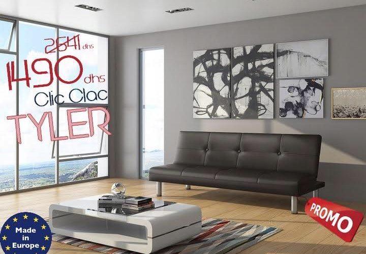 Soldes Azura Home Banquette Clic Clac Tyler 1490Dhs au lieu de 2641Dhs