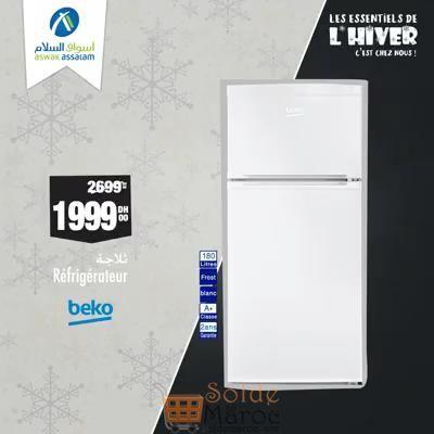 Photo of Soldes Aswak Assalam Réfrigérateur 180L BEKO 1999Dhs au lieu de 2699Dhs