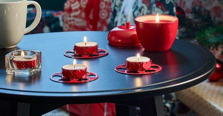 Photo of Soldes Ikea Maroc Bougie parfumée VINTER 2018 pomme rouge Cannelle 15Dhs au lieu de 29Dhs