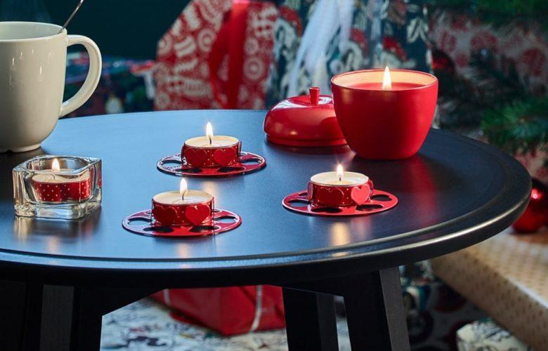 Soldes Ikea Maroc Bougie parfumée VINTER 2018 pomme rouge Cannelle 15Dhs au lieu de 29Dhs