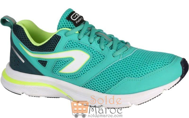 Soldes Decathlon Maroc Chaussures KALENJI jogging femme run active verte 173Dhs au lieu de 199Dhs