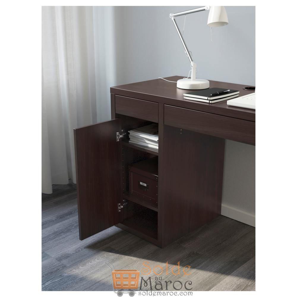 Soldes Ikea Maroc Bureau MICKE noir-brun 999Dhs au lieu de 1195Dhs