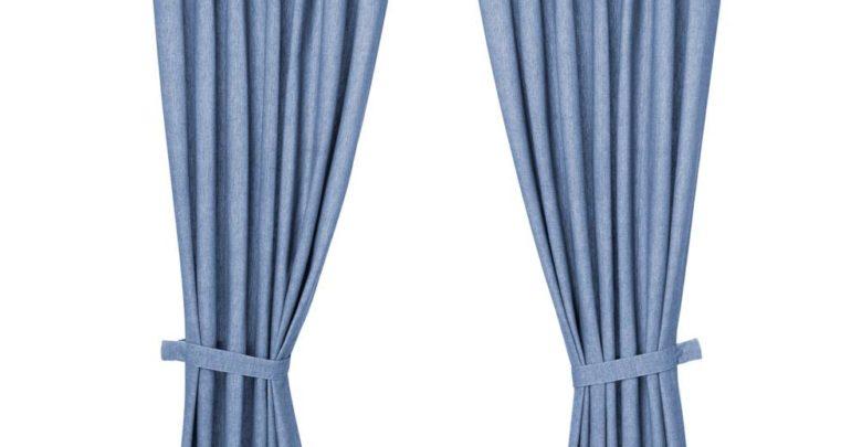 Soldes Ikea Maroc Rideaux avec embrasses LENDA 1 paire bleu vif 329Dhs au lieu de 399Dhs