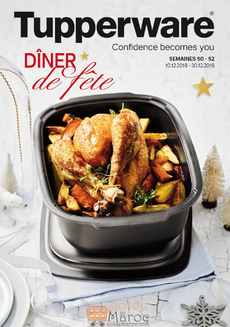 Catalogue Tupperware Maroc Dîner de fête Jusqu'au 30 Décembre 2018
