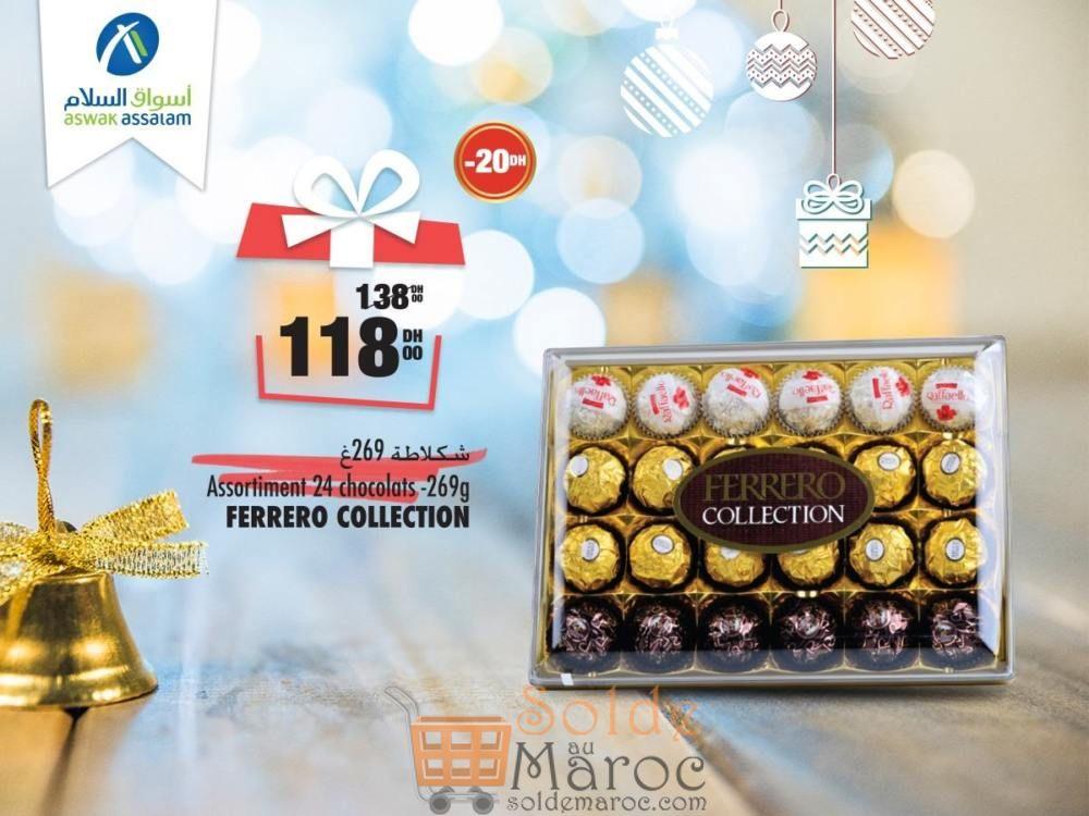 Promo Aswak Assalam Assortiment 24 Chocolats FERRERO 118Dhs au lieu de 138Dhs