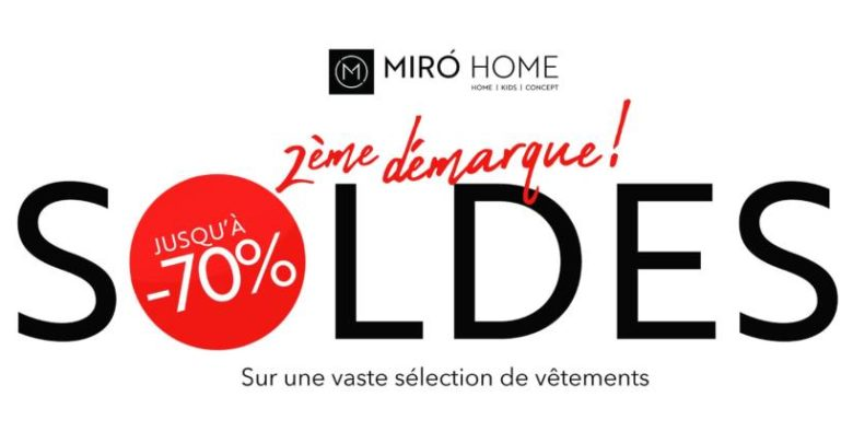 Photo of Soldes Miro Home 2ème Démarque Jusqu'à -70%