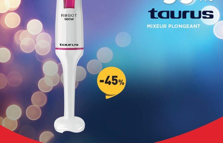 Promo Electroplanet Mixeur Plongeant TAURUS 99Dhs au lieu de 179Dhs