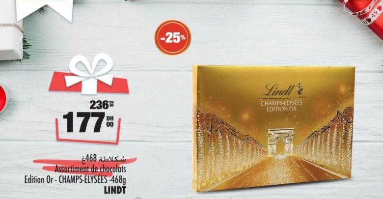 Promo Aswak Assalam Assortiment Chocolats Champs-Élysées LINDT 177Dhs au lieu de 236Dhs