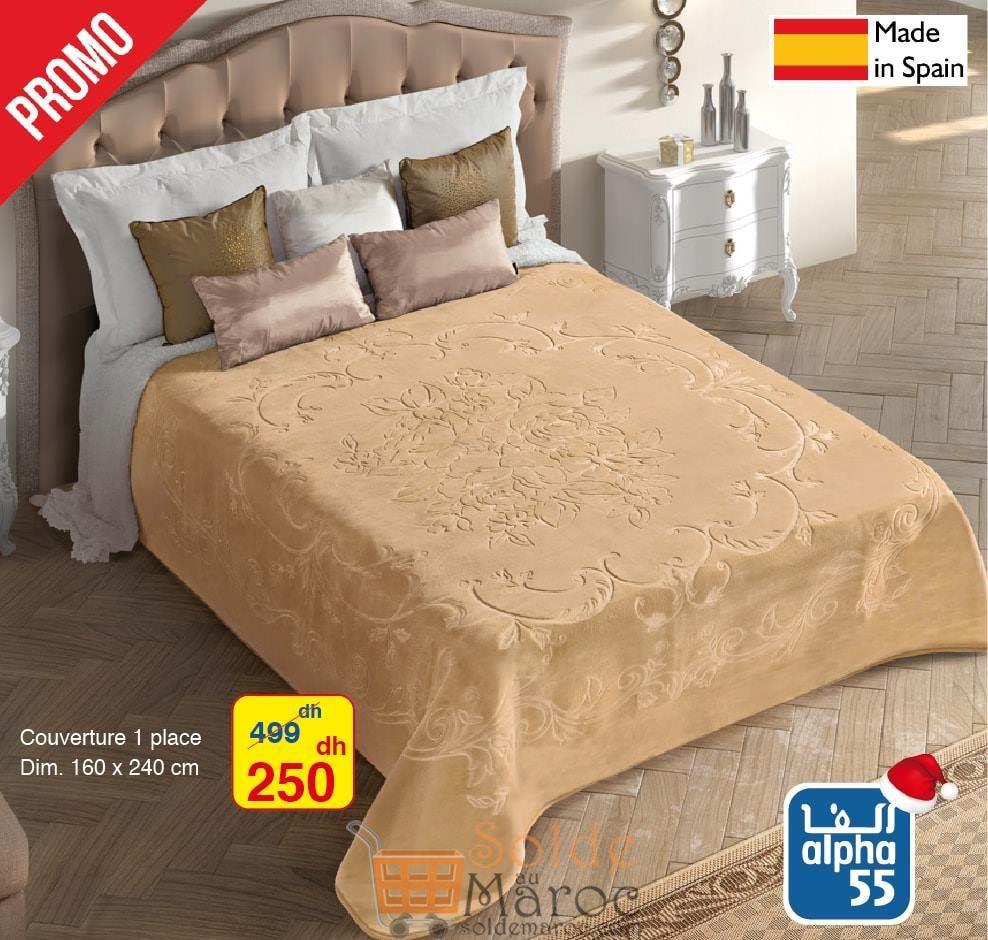 Promo Alpha55 Couverture 1 place made in Spain 250Dhs au lieu de 499Dhs