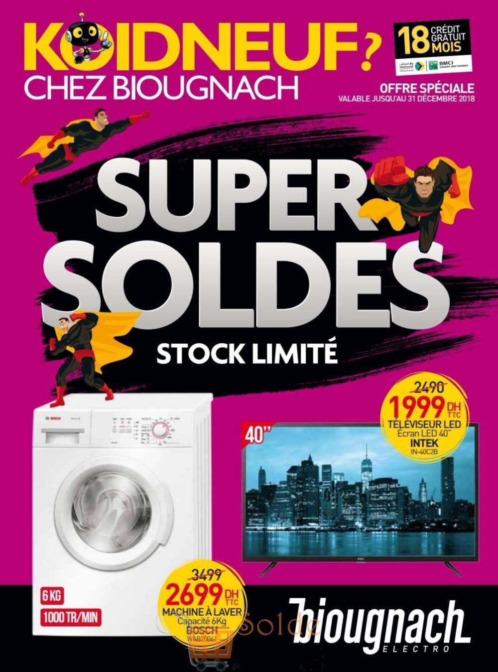 Catalogue Biougnach Electro SUPER SOLDES Jusqu'au 31 Décembre 2018